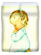 A Childs Prayer Duvet Cover by Charlotte Byj
