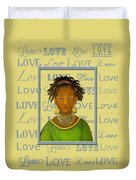 A Child's Whispers Of Love Duvet Cover by The Art With A Heart By Charlotte Phillips