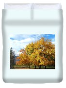 A Chromatic Fall Day Duvet Cover