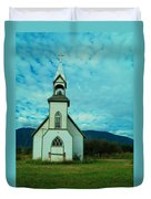 A Church In British Columbia   Duvet Cover