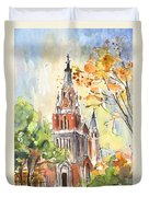 A Church In Our Street In Budapest Duvet Cover