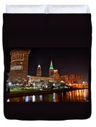 A Cleveland Night Duvet Cover