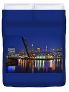A Cleveland Ohio Evening On The River Duvet Cover