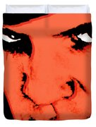 A Clockwork Orange Malcolm Mcdowell Duvet Cover by Tony Rubino