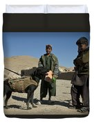 A Coalition Forces Military Working Dog Duvet Cover