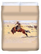 A Cold Morning On The Range  Duvet Cover