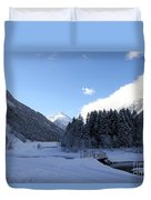 A Cold Winter Day Duvet Cover