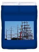 A Collection Of Masts In Baltimore Duvet Cover