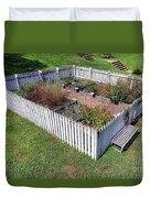 A Colonial Garden Duvet Cover