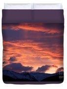 A Colorado Sunrise Duvet Cover