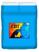 A Colorful Exit  Duvet Cover