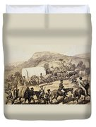 A Convoy Of Wagons Duvet Cover