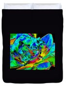 A Cosmic Dragonfly On A Psychedelic Rose Duvet Cover