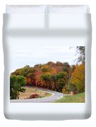 A Country Road In Autumn Duvet Cover