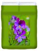 A Couple Of Pansies Duvet Cover