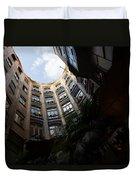 A Courtyard Curved Like A Hug - Antoni Gaudi's Casa Mila Barcelona Spain Duvet Cover