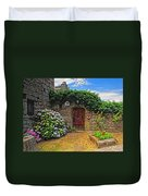A Courtyard In Brittany France Duvet Cover