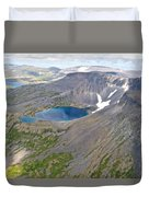 A Crater Lake From The Seaplane In Katmai National Preserve-alaska  Duvet Cover