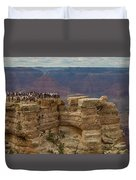A Crowd And A Canyon Duvet Cover