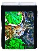 A Curious Cat Duvet Cover