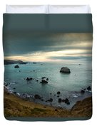 A Dark Day At Sea Duvet Cover