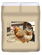 A Day At The Farm Duvet Cover