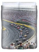 A Day At The Racetrack Duvet Cover