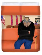 A Day At The Va Clinic Duvet Cover