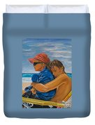 A Day On The Beach Duvet Cover
