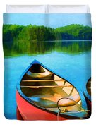 A Day On The Lake Duvet Cover