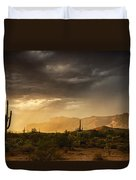 A Desert Monsoon Sunset  Duvet Cover