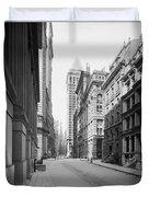 A Deserted Wall Street Duvet Cover