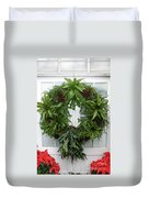 A Different Christmas Wreath Duvet Cover