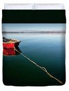 A Dinghy On A Calm Sea, Port Clinton Duvet Cover