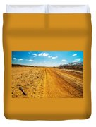 A Dirt Road In The Desert Duvet Cover