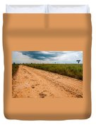 A Dirt Road In The Plains Duvet Cover