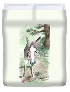 A Donkey Day Duvet Cover