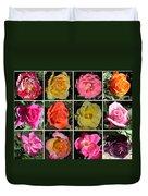 A Dozen Roses Duvet Cover