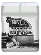 A Drive-in Theater Marquee Duvet Cover