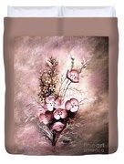 A Dusty Rose Bouquet Duvet Cover