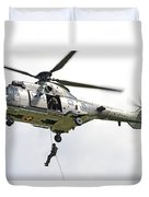 A Eurocopter As332 Super Puma Duvet Cover