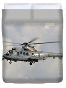 A Eurocopter As532 Cougar Of The Royal Duvet Cover