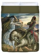 A Fairy And A Knight Duvet Cover
