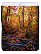 A Fall Forest  Duvet Cover
