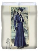 A Fashionable French Lady Duvet Cover
