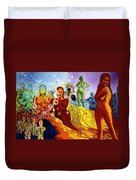 A Feminine Day In A Masculine Dreamer's Night Duvet Cover