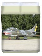A Fiat G-91 Fighter Plane Of The German Duvet Cover