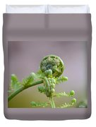 A Fiddlehead Abstract Duvet Cover