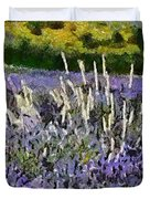 A Field Of Lavender Duvet Cover