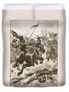 A Fierce Hand-to-hand Fight Ensued Duvet Cover